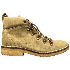RALPH LAUREN Size 8 Khaki Suede Lace Up Crepe Sole Boots
