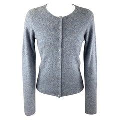 RALPH LAUREN Size M Light Blue Crystal Studded Cashmere Cardigan