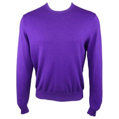 RALPH LAUREN Size M Purple Wool Cashmere Blend Pullover Sweater