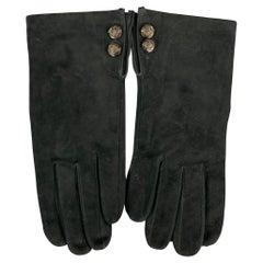 RALPH LAUREN Size S Black Suede Gloves