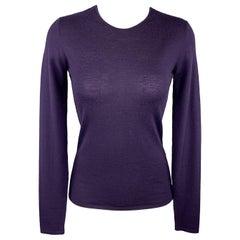 RALPH LAUREN Size S Purple Cashmere Crewneck Pullover