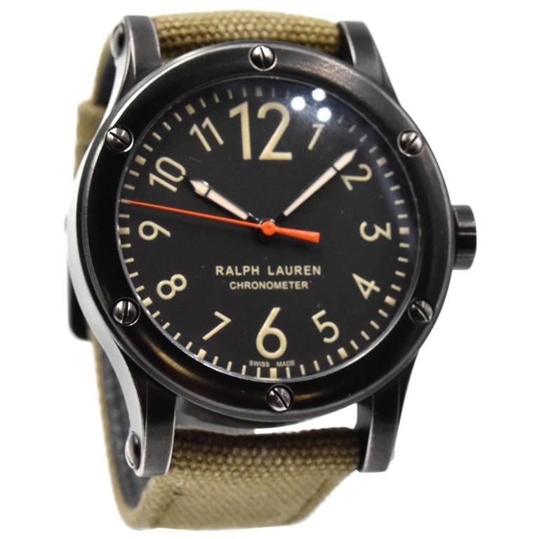 Ralph Lauren Stainless Steel Safari Sport Chronometer mechanical Wristwatch  at 1stdibs 34ac4c414609f