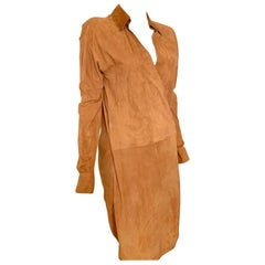 Ralph Lauren Suede Tan Wrap Dress Size 6
