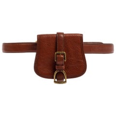 Ralph Lauren Tan Leather Mini Waist Bag