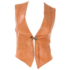 Ralph Lauren Western Wear Vintage Lambskin Leather Vest