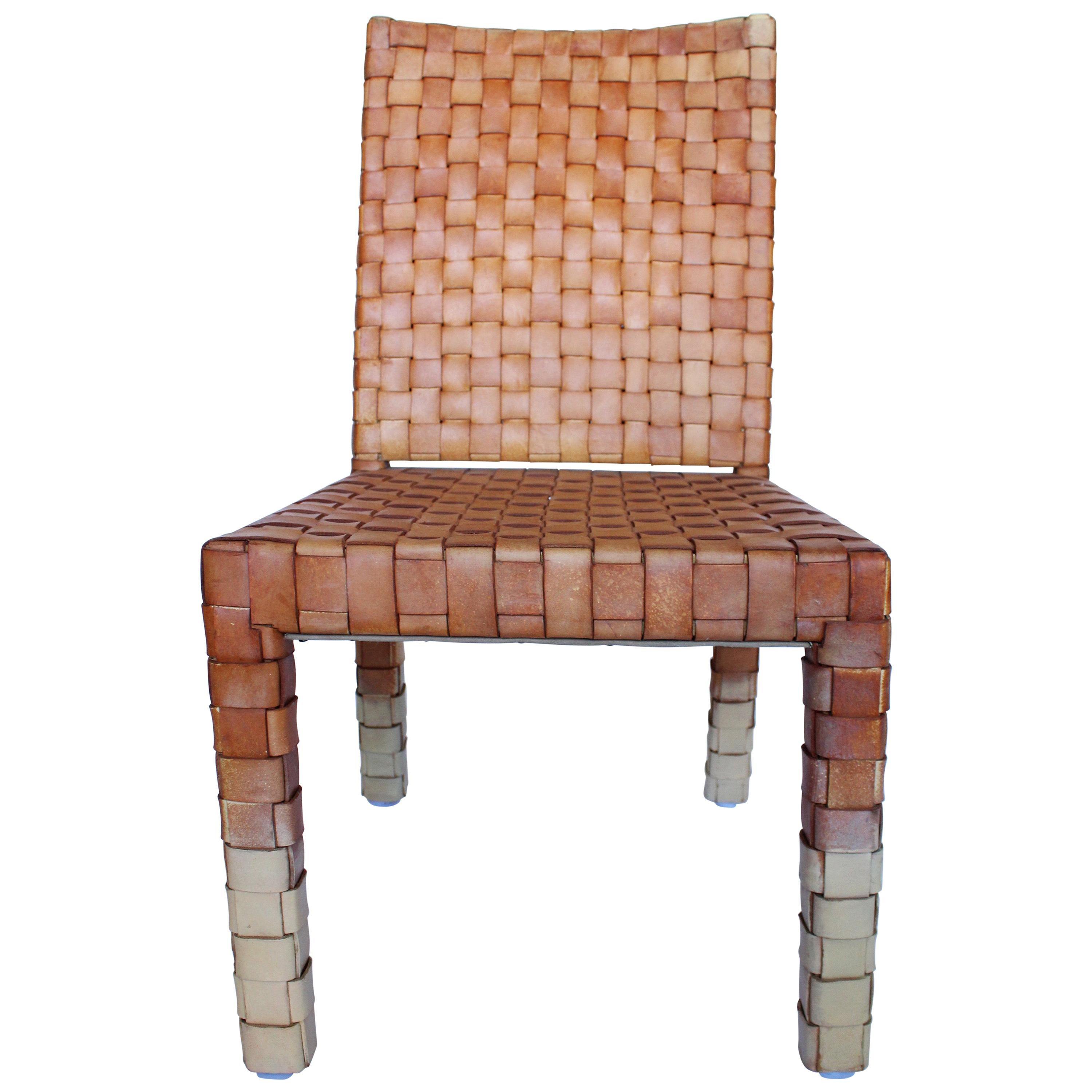 Ralph Lauren Woven Saddle Leather Chair