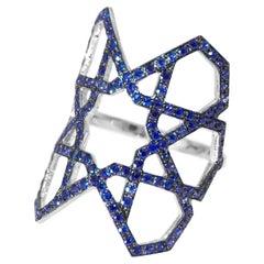 Ralph Masri Arabesque Deco Blue Sapphire Ring