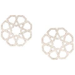 Ralph Masri Arabesque Deco Diamond Earrings