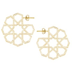 Ralph Masri Arabesque Deco Diamond Hoops