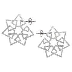 Ralph Masri Arabesque Deco Diamond Star Hoops