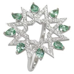 Ralph Masri Arabesque Deco Diamond Star Ring