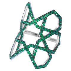 Ralph Masri Arabesque Deco Emerald Ring