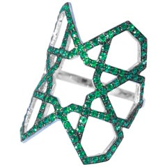 Ralph Masri Arabesque Deco Emerald Ring