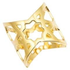 Ralph Masri Arabesque Deco Gold Ring