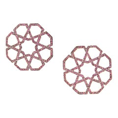 Ralph Masri Arabesque Deco Ruby Earrings