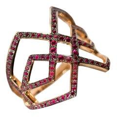 Ralph Masri Arabesque Deco Ruby Ring