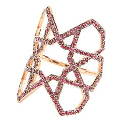 Ralph Masri Arabesque Deco Ruby Ring