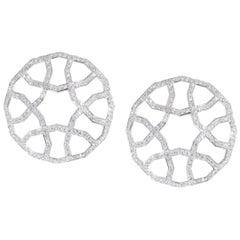 Ralph Masri Domed Arabesque Deco Diamond Earrings