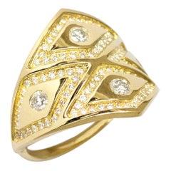 Ralph Masri Heliopolis Diamond Gold Ring