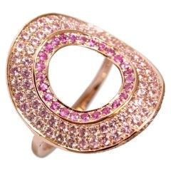 Ralph Masri Modernist Circular Pink Sapphire Ring