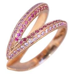 Ralph Masri Modernist Open Pink Sapphire Ring