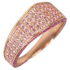 Ralph Masri Modernist Signet Pink Sapphire Ring