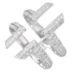 Ralph Masri Phoenician Script Double Diamond Ring
