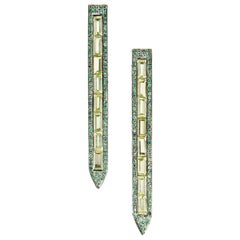 Ralph Masri Sacred Windows Peridot and Emerald Earrings