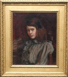 Portrait of Margaret Griselda Wedderburn - British Victorian female oil painting