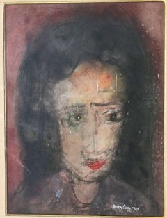 Woman With Dark Eyes And Dark Hair