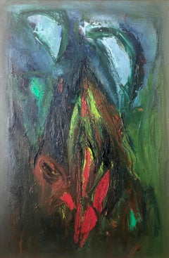 Large Colorful MCM Abstract Expressionist Oil Painting Modernist Ralph Rosenborg