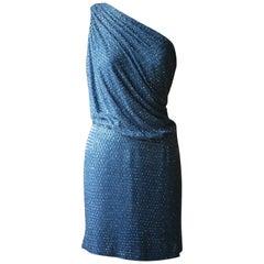 Ralph & Russo Crystal Embellished One-Shoulder Mini Dress