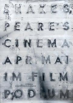 """Shakespeare's Cinema - Filmpodium"" Swiss Graphic Design Original Vintage Poster"