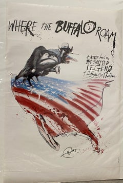 Where The Buffalo Roam Poster Signed by Hunter S. Thompson