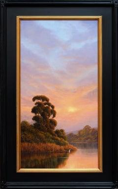 Misty Sunset Reflections