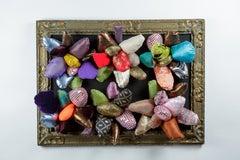 Garden with Secrets - 21st Century, Textile, Flowers, Contemporary, Colorful