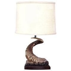 Ram Horn Table Lamp