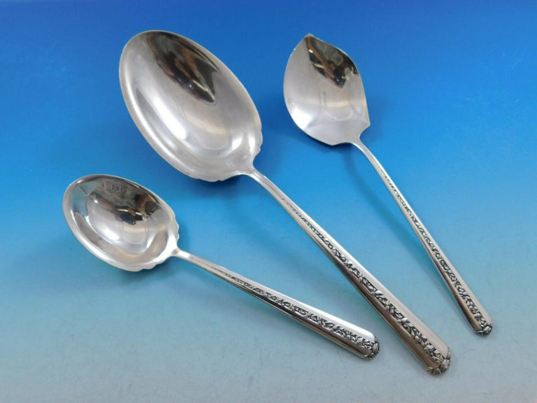 Sterling Silver Flatware Towle Rambler Rose Jelly Server