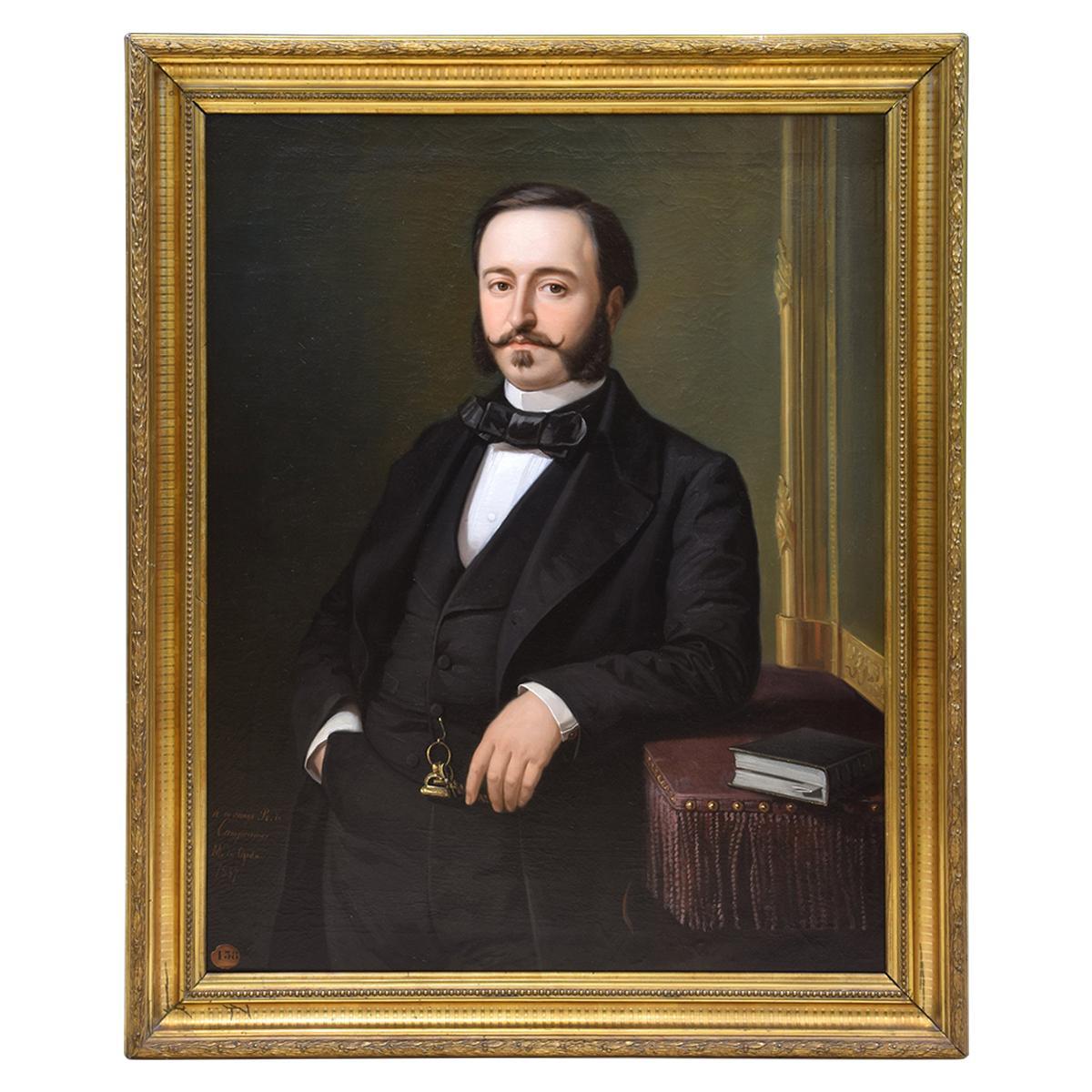 Ramón de Campoamor, Oil on Canvas, Signed, Ojeda Y Siles, Manuel, 1857