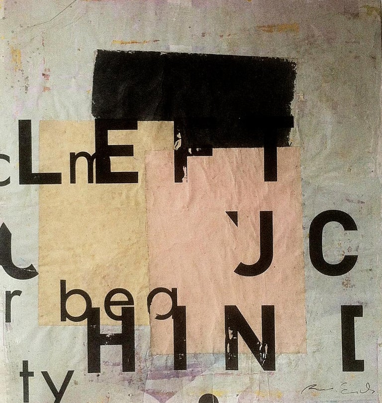 Ramon Enrich Abstract Painting - ATZ, Typography series