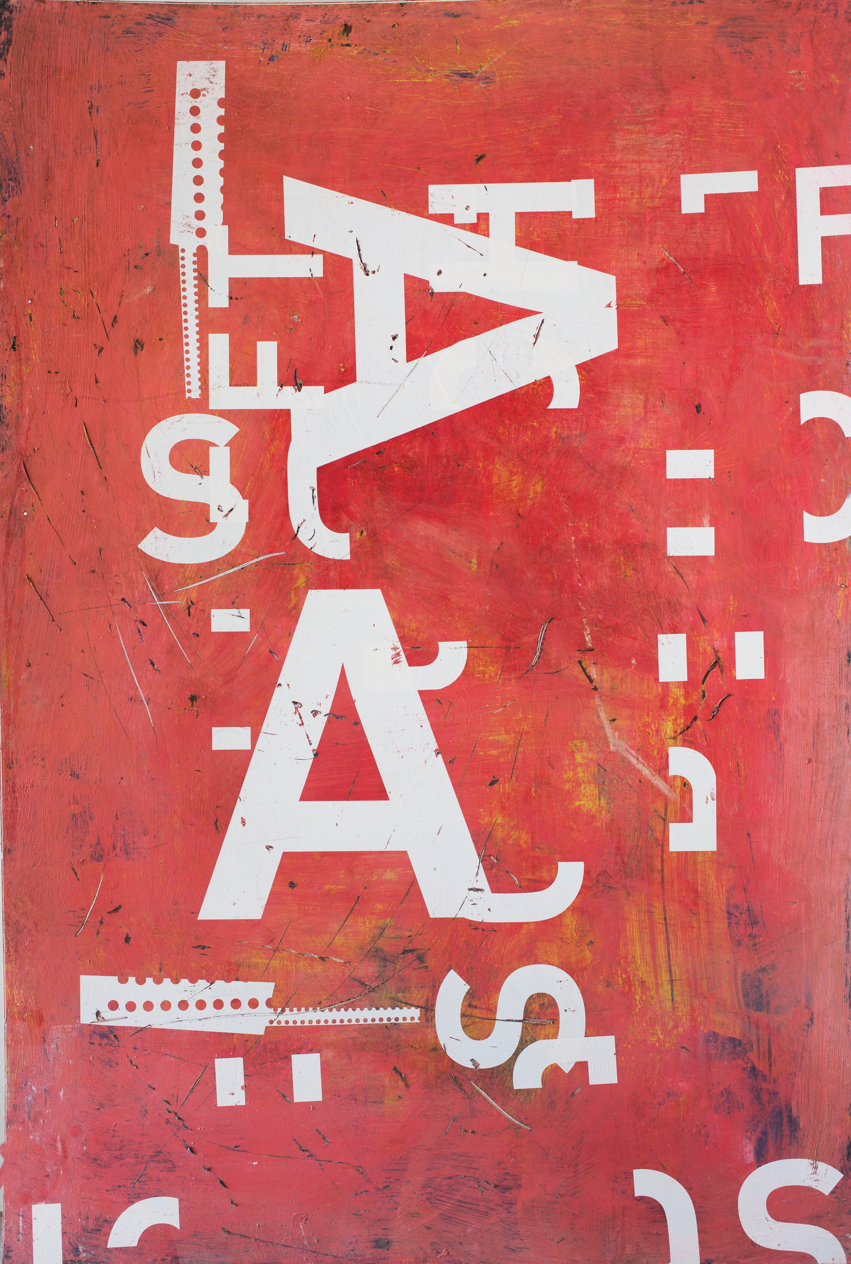 Grand AA, Typography series (large-scale painting)
