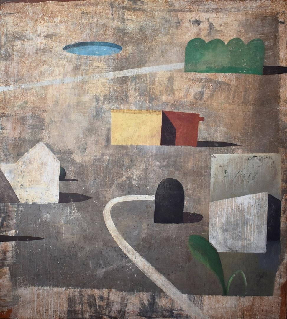 AJF - Contemporary Geometric Landscape Painting, Large scale