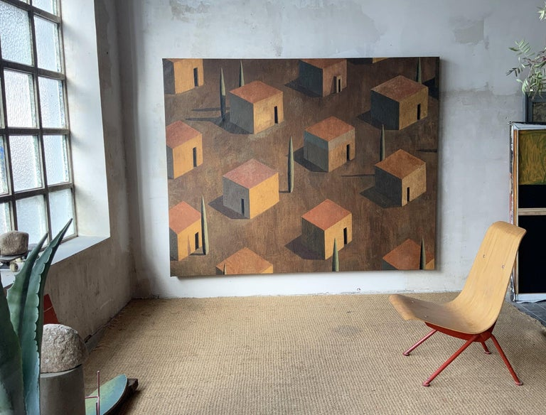 AMBMA by Ramon Enrich - Contemporary Geometric Landscape Painting, Large size For Sale 1