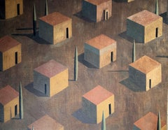 AMBMA by Ramon Enrich - Contemporary Geometric Landscape Painting, Large size