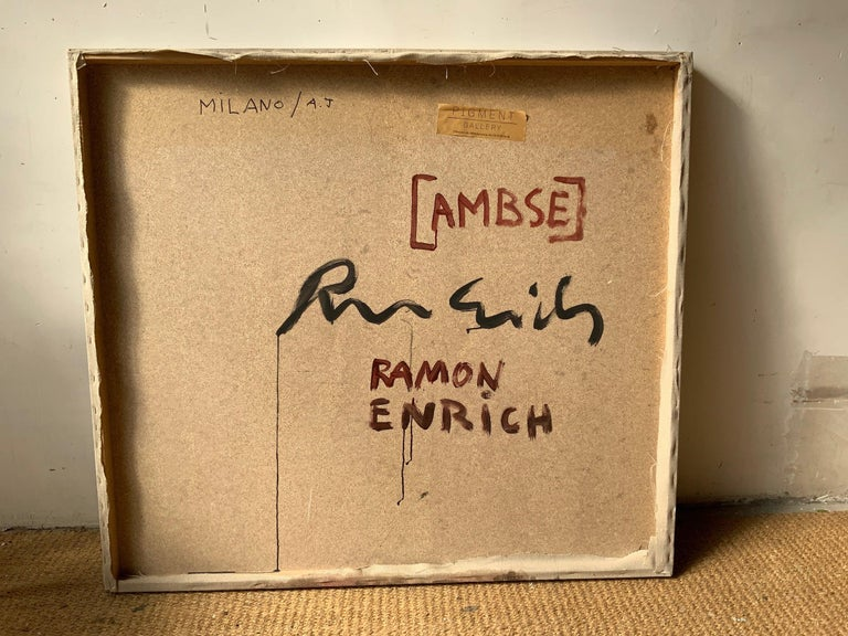 AMBSE by Ramon Enrich - Contemporary Geometric Landscape Painting, Earth Tones For Sale 1