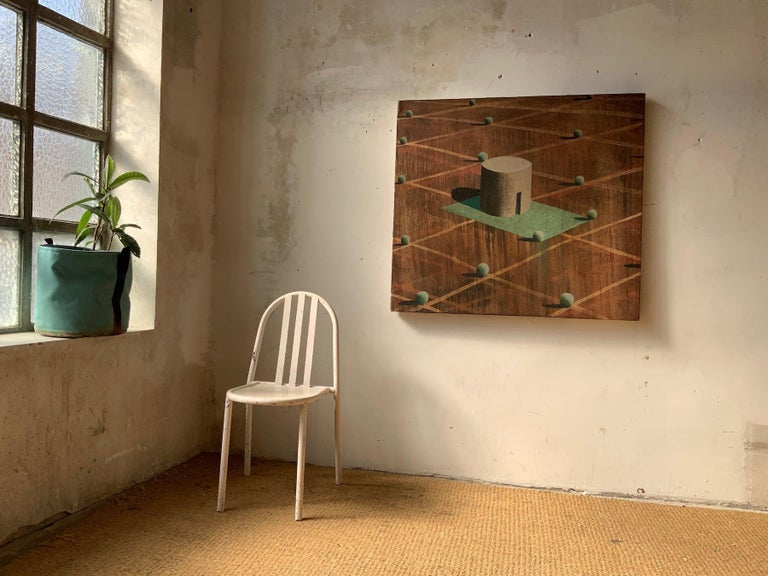 AMBSE by Ramon Enrich - Contemporary Geometric Landscape Painting, Earth Tones For Sale 2