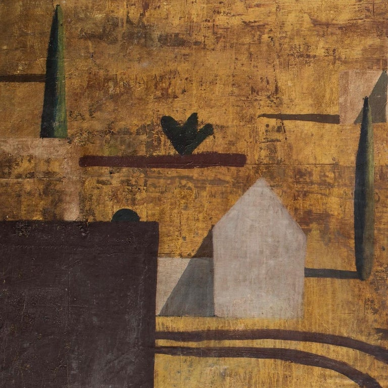Buocre - Contemporary Geometric Landscape Painting, Large scale For Sale 3