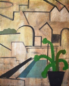 CONG 1 - Contemporary Geometric Landscape Painting