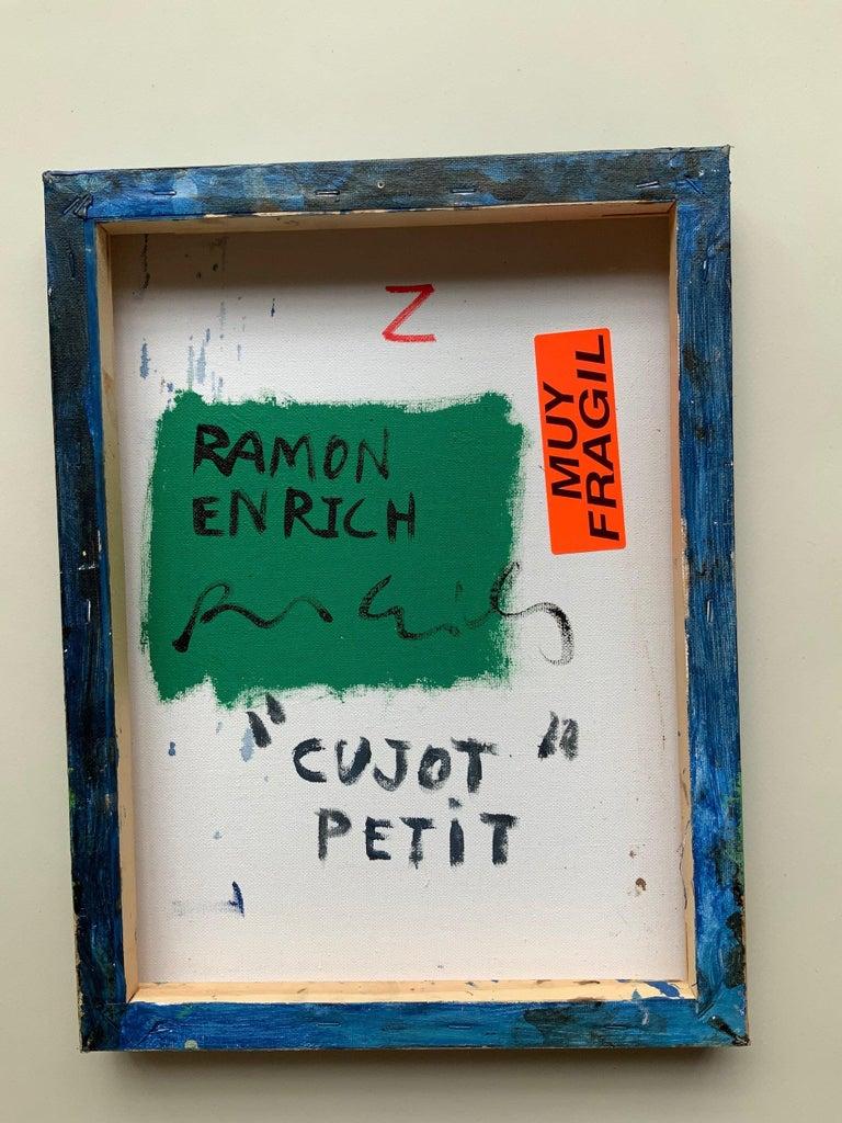 CUJOT PETIT by Ramon Enrich - Contemporary Geometric Landscape Painting, blue For Sale 3