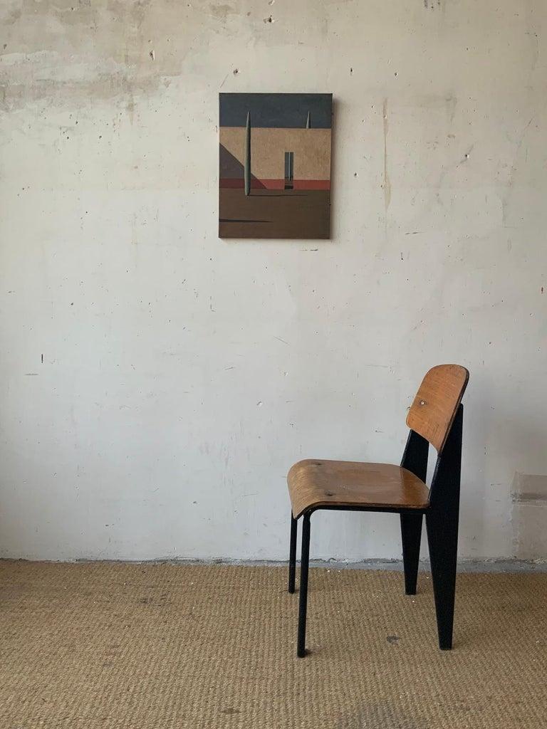 DGW by Ramon Enrich - Contemporary Geometric Landscape Painting For Sale 1